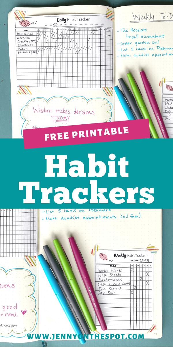 Habit Tracker inside journal example