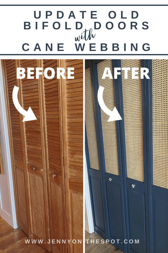 Update Old Louvered Bifold Doors with Cane Webbing