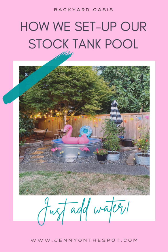 Stock Tank Pool Set-up/DIY