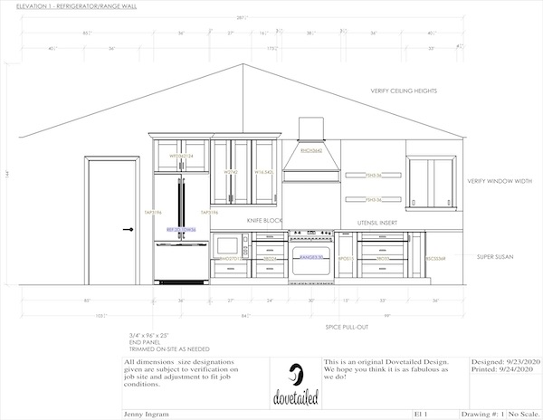 Detailed elevations by Dovetailed Design