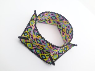 Harlequin Bangle - Small Neon