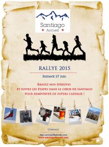 Affiche Rallye Santiago Accueil