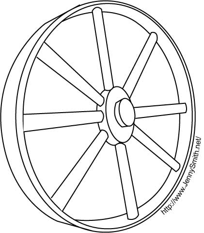 Wagon Wheel Template
