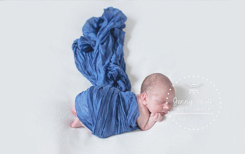 Newborn baby boy sleeping