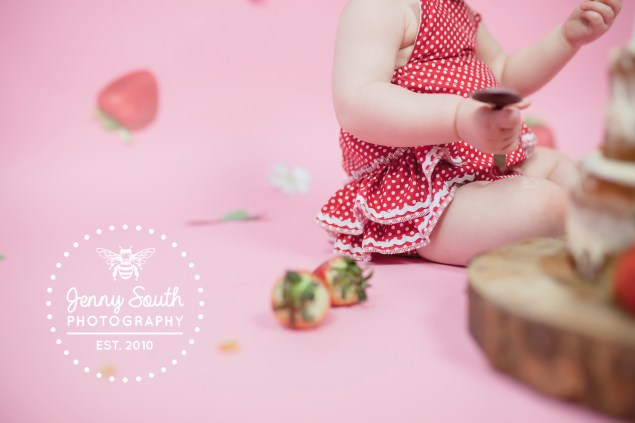 All the mess of a cake smash photography session
