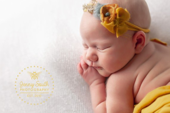 A newborn photo showing a brand new baby just 14 days old.