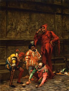 Court Jesters Playing Bowls by Eduardo Zamacois y Zabala