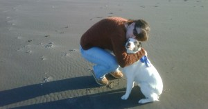 Me and Blue the dog at the beach