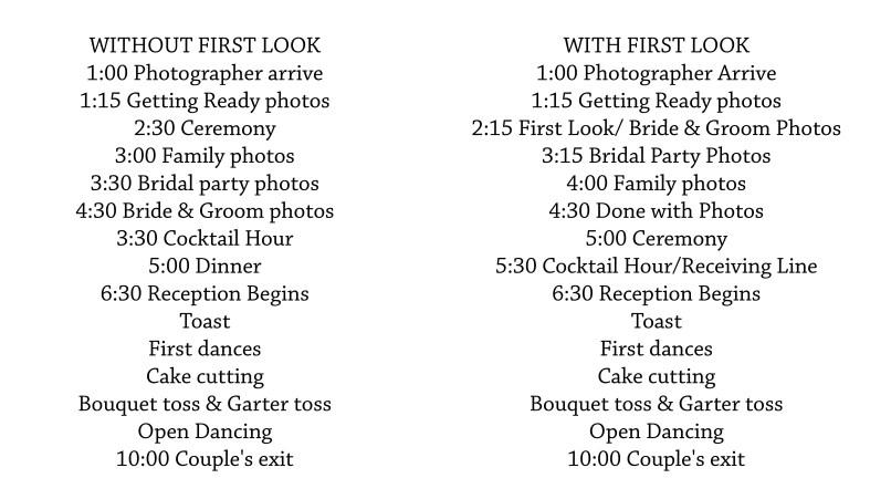 5 Hour Wedding Reception Timeline Buffet Invitationjpg
