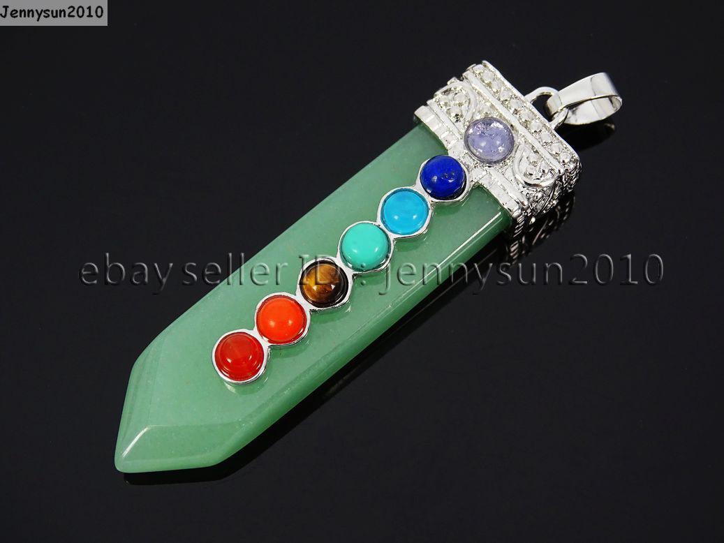 Natural Precious Gemstone Healing Reiki Chakra Sword Shape