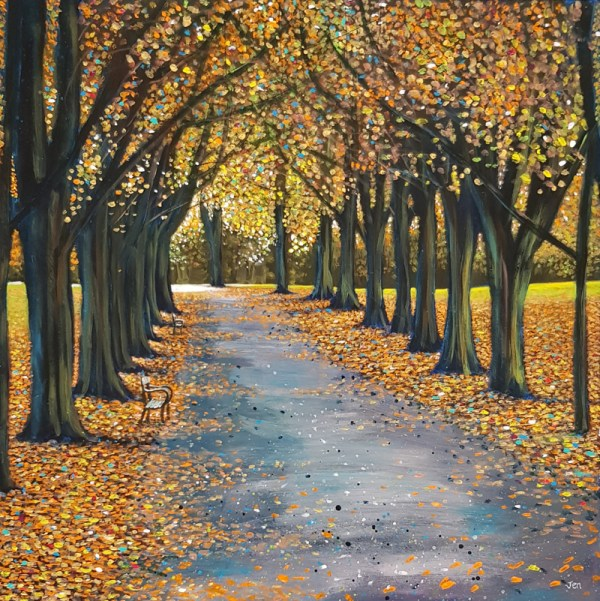 The Promenade in Clifton Bristol in autumn by Jenny Urquhart