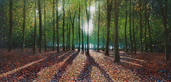 Beech trees in Leigh Woods near Bristol by Jenny Urquhart