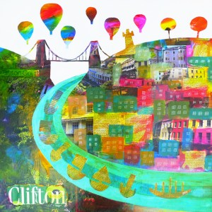 clifton colours is full of collage and bright hot air balloons by jenny urquhart