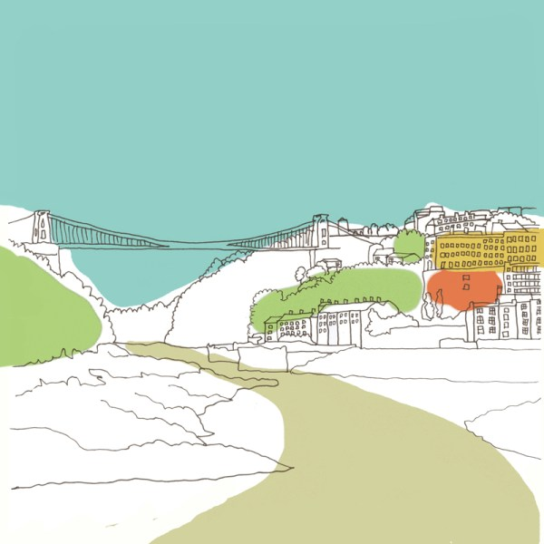 Clifton Suspension spans the Avon Gorge in Bristol by Jenny Urquhart