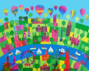 london town and famous landmarks by jenny urquhart