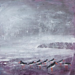 oyster catchers by jenny urquhart