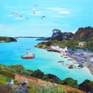 ferryboat inn in helford passage cornwall by jenny urquhart
