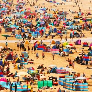 woolacombe windbreaks devon beach by jenny urquhart