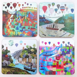 Bristol bridge coasters by Jenny Urquhart
