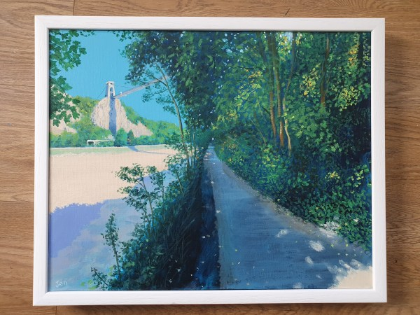 Sunny path along the Avon gorge by Jenny Urquhart