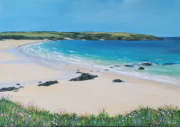 Harlyn Bay in Cornwall by Jenny Urquhart