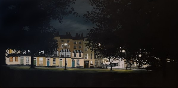 Clifton village and sion hill at night by Jenny Urqhart