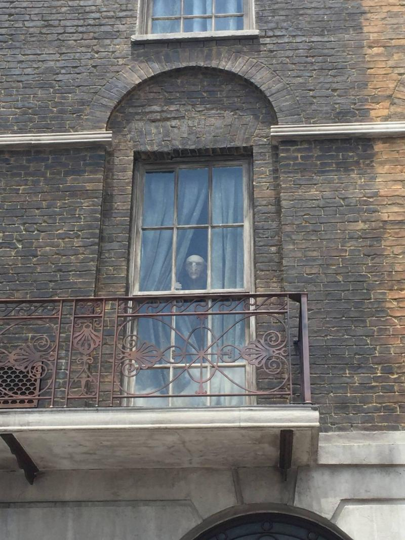 Inhabitant looking out of 12 Grimauld Place