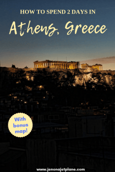 Only have 2 days to spend in Athens, Greece? You can see a lot in that time. From the parthenon to the best gyros in the city, find out what should be at the top of your Athens must-see list. #athensgreece #athensgreecetravel #athenstravelguide #athenstraveltips #greecetravel #greecevacation #europetrip