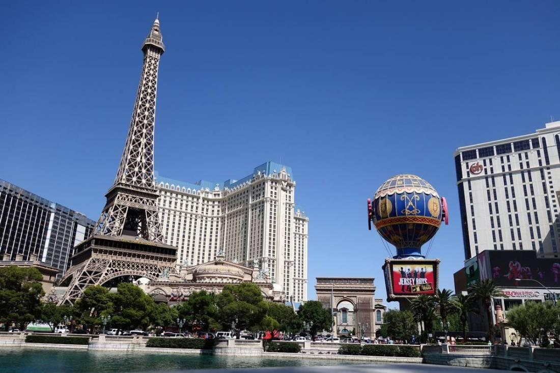 Las Vegas Strip with Eiffel Tower