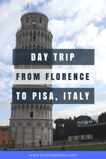How to take a day trip from Florence, Italy to Pisa, Italy to see the Leaning Tower of Pisa. Take a train in the morning and be back in time for lunch!