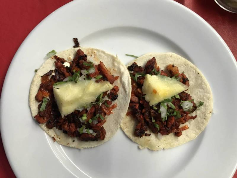 Tacos al Pastor in downtown Cancun