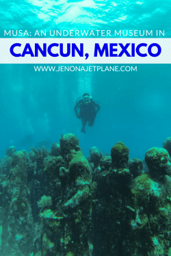 Just 20 minutes from Cancun and Isla Mujeres by boat lies MUSA, an underwater museum with more than 500 statues for scuba divers and snorkelers to explore. Don't miss this underwater museum while in Mexico!