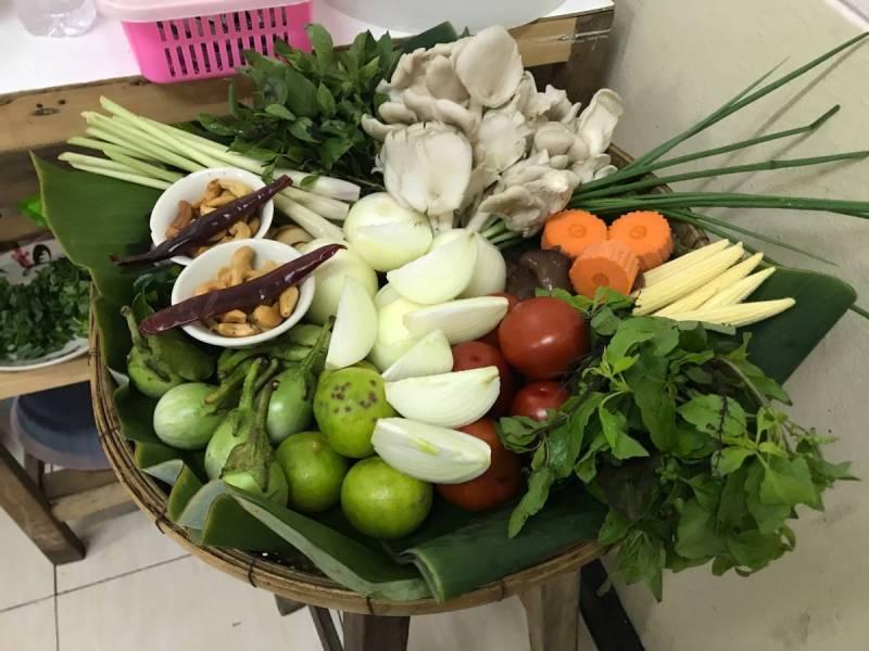 Fresh produce before class