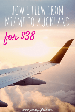 Cheap flights to New Zealand exist, if you know where to find them. This is a case study of how I flew from Miami to Auckland for $37.70. Filled with money-saving tips and budget travel secrets. Start traveling more for less!