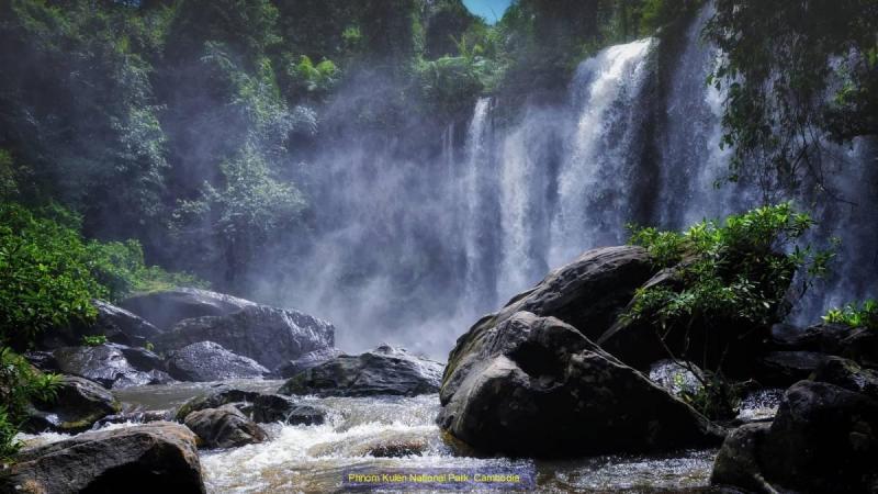 Waterfall outside of Siem Reap