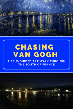 Are you a Vincent Van Gogh fan? Did you know you can visit some of the real life places he featured in his works on a self-guided art walk around Arles, France? Here's everything you need to know to find Van Gogh in the South of France. Save to your travel board for future reference! #vangogh #vangoghart #arlesfrance #southoffrance #francetravel #francetraveltips #arlesfrancevangogh