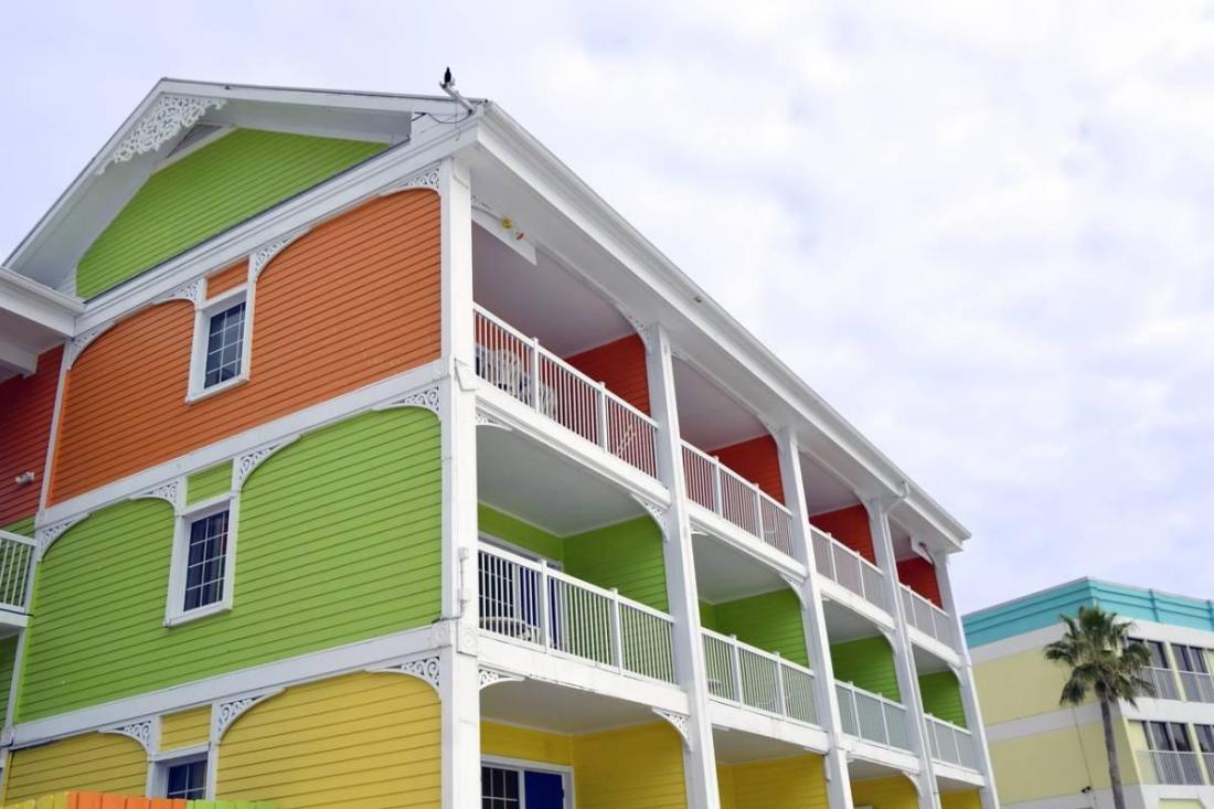 Colorful beach apartments