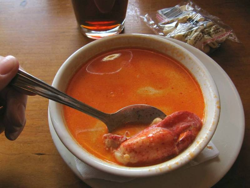 Cup of lobster stew