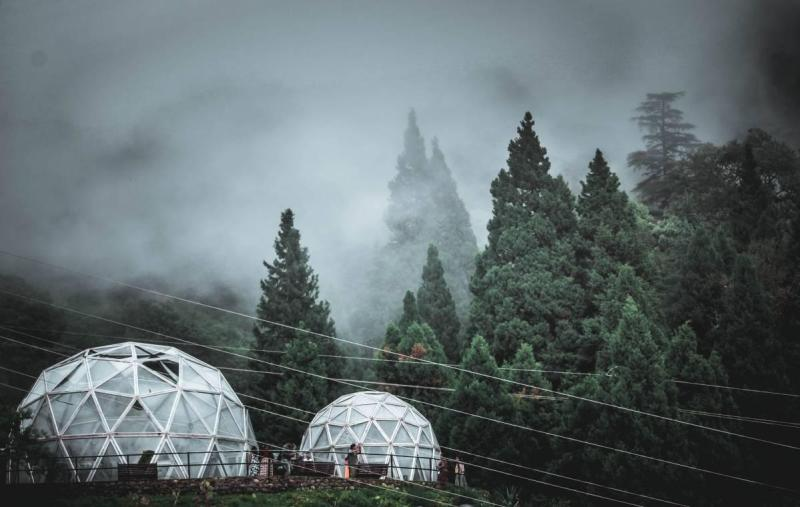 Dome tents in France