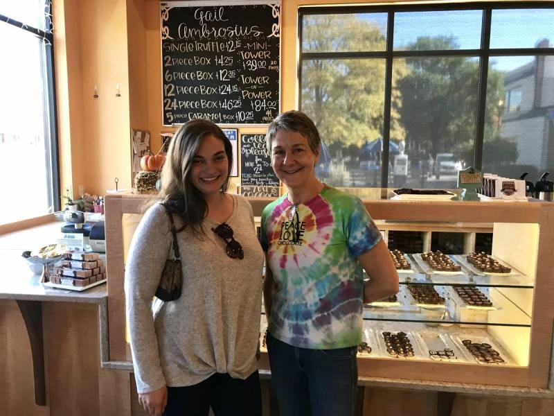 With chocolatier Gail Ambrosius