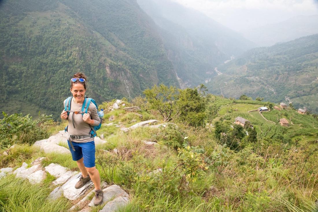 Jessie climbing in Nepal