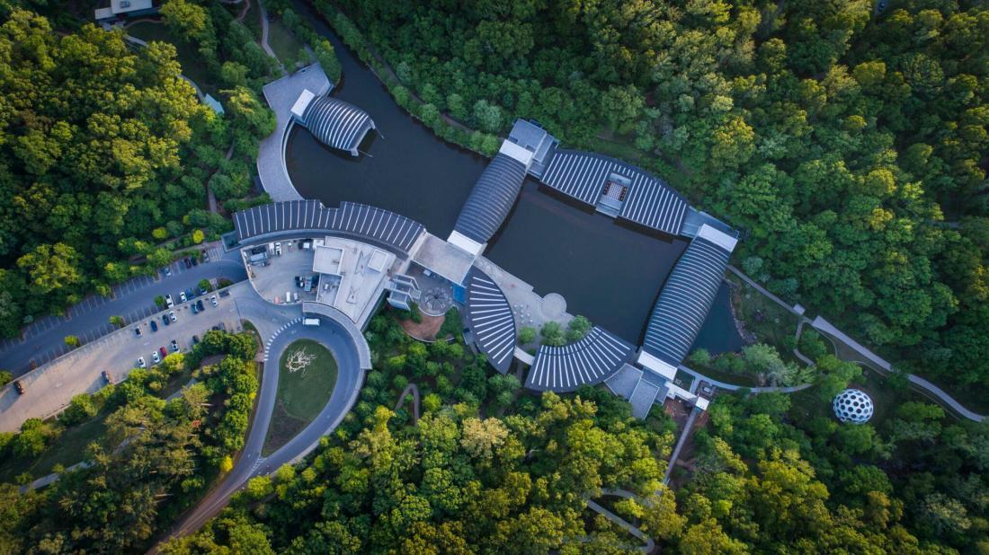 Crystal Bridges Museum Overhead View