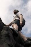 impromptu rock climbing