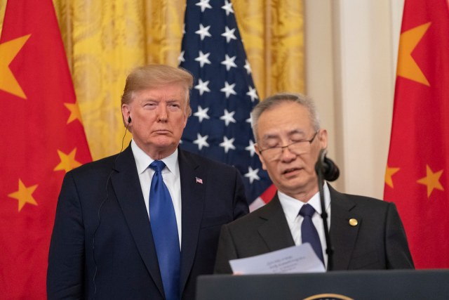 "川普称不考虑""第二阶段""美中贸易协定 Trump says he is not thinking about a 'Phase 2' U.S. – China trade deal"