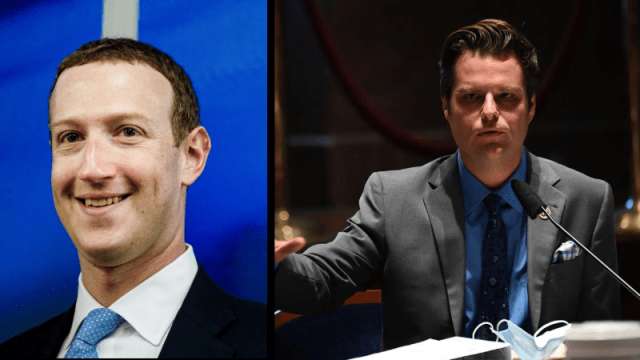 美国会议员盖茨对脸书CEO扎克伯格提出刑事转介 Congressman Gaetz Files Criminal Referral Against Facebook CEO Mark Zuckerberg