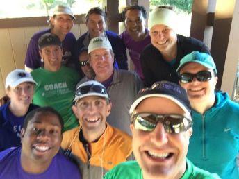 Team Selfie! I'm in the turquoise cap.