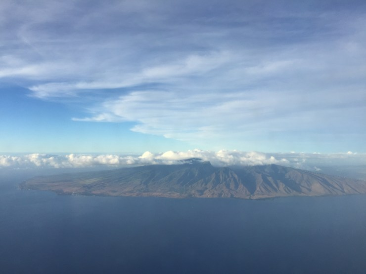 Looking at Maui County from a Plane