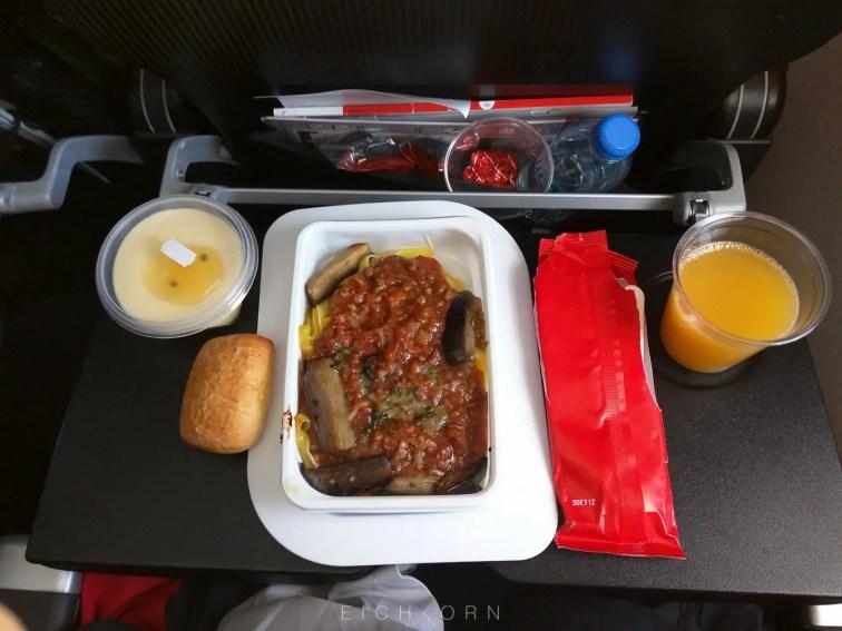 Having lunch on board.