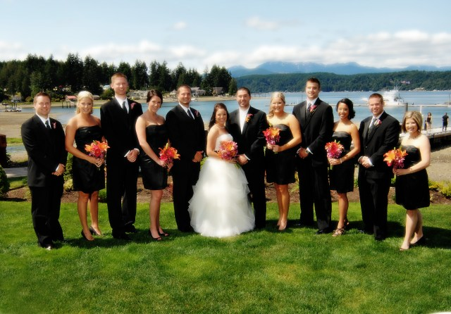 Alderbrook Resort Wedding Party