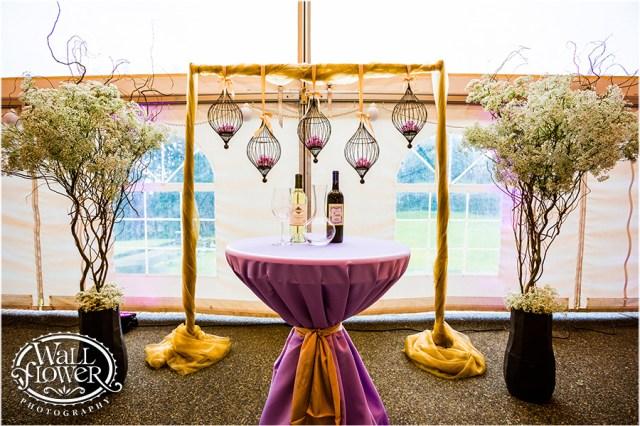 Lavender & Champagne Altar Design || WallflowerPhoto-Canterwood